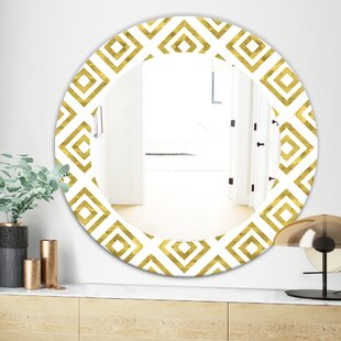 Capital Honeycomb 1 MidCentury Wall Mirror by East Urban Home