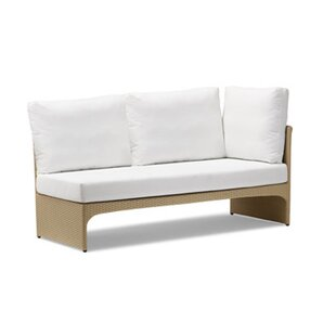 100 Essentials Cerise Left Corner Sectional Piece with Cushions