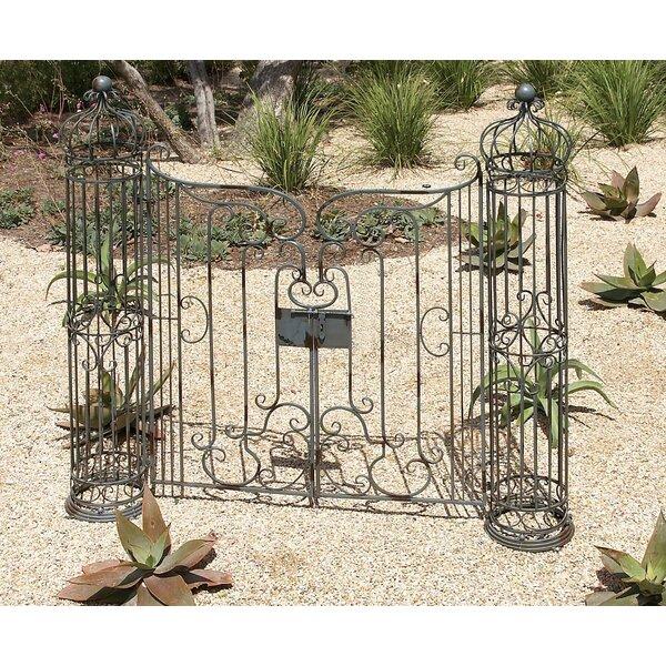 Cole U0026 Grey Metal Garden Gate U0026 Reviews | Wayfair