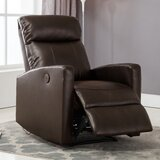 Troutman Leather Power Recliner by Latitude Run®