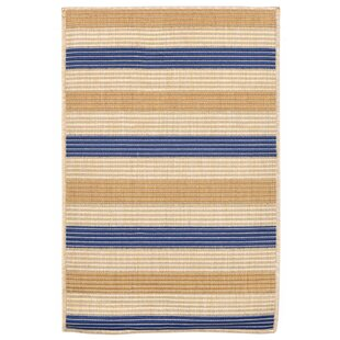 Larana Stripe Beige/Blue Indoor/Outdoor Area Rug