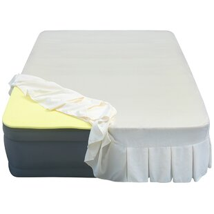 Lustrous 20 Air Mattress with 3/4 Memory Foam Topper and Skirted Sheet Cover by Altimair Air Beds & Mattresses