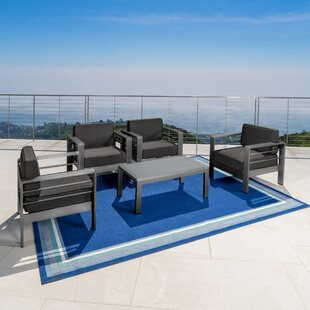 Crosstown 5 Piece Conversation Set with Cushions
