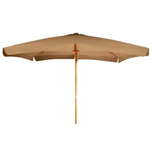 Winston Porter Junkins Wood Frame Patio Rectangular 10' Market Umbrella