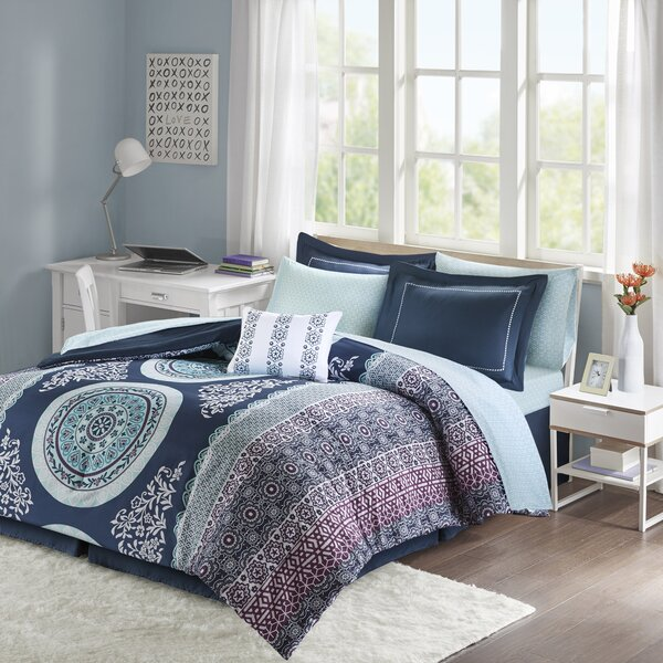 Coral And Blue Comforter Wayfair