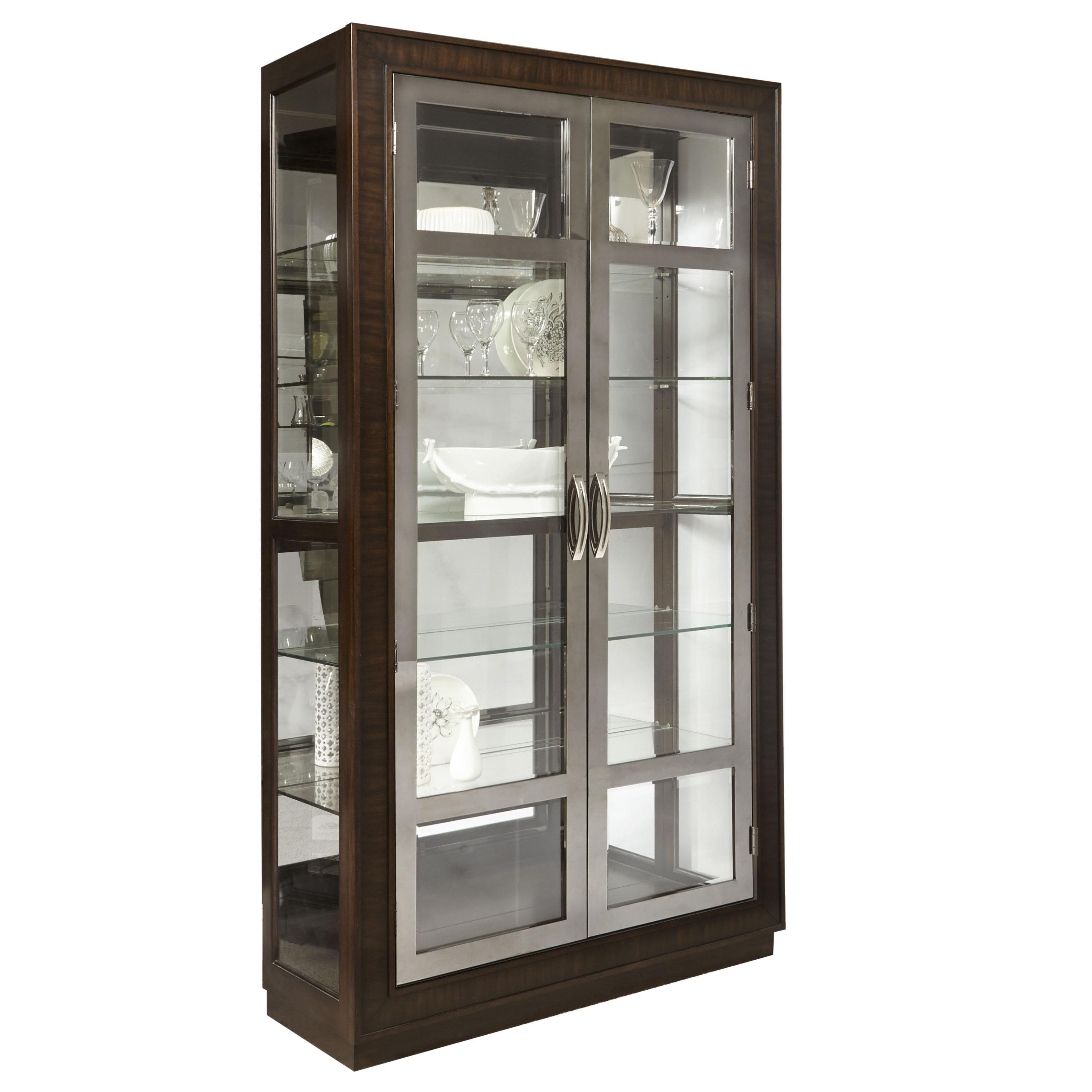 Red Barrel Studio Byrnes Modern Double Door Standard Curio Cabinet | Wayfair