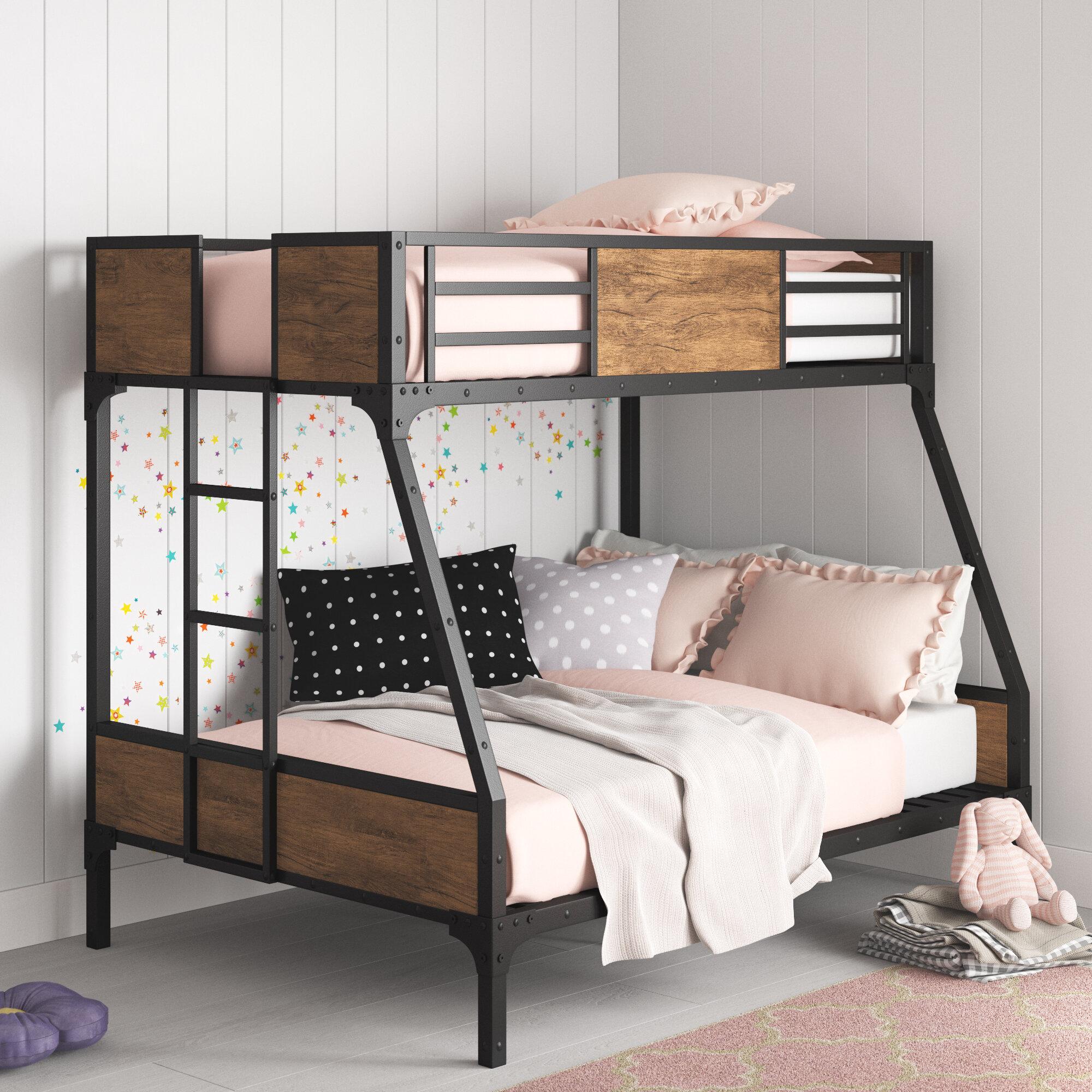 Harriet Bee Fresno Twin Over Full Bunk Bed Reviews