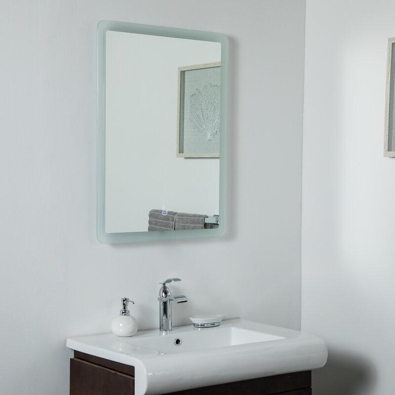 Awesome Karlstad Backlit Led Frameless Lighted Bathroom Mirror Download Free Architecture Designs Scobabritishbridgeorg