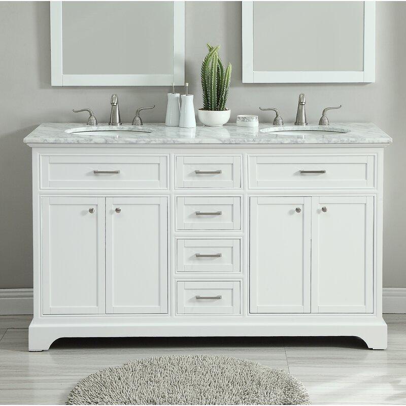 Darby Home Co Darry 60 Double Bathroom Vanity Set Reviews Wayfair