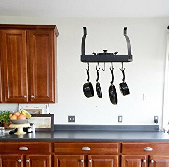 Wall Mounted Pot Rack Rebrilliant