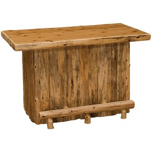 Cedar Home Bar by Fireside..