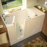 Tucson 60 x 30 Walk in Combination with Faucet, Light, Heater and Integrated Seat by Therapeutic Tubs