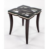 Glass Top End Table by Artmax