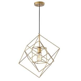 Brayden Studio Eastgate 1-Light Geometric Pendant