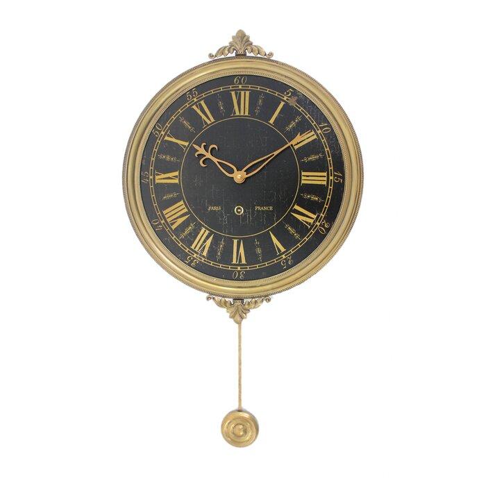 Adelheide Vintage Living Room Pendulum 15 Wall Clock