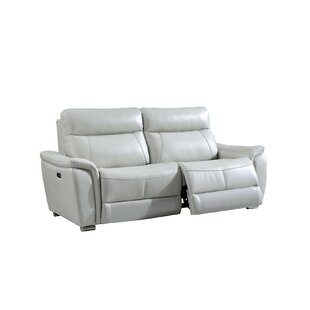 Latitude Run Meister Electric Leather Reclining Sofa