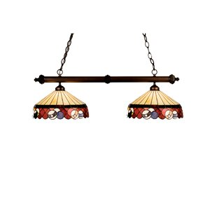 Meyda Tiffany Tiffany Burgundy Billiard 2-Light Pool Table Light