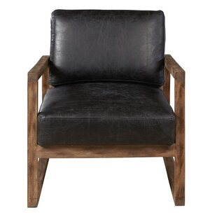 Caress Traditional Leather Armchair by 17 Stories