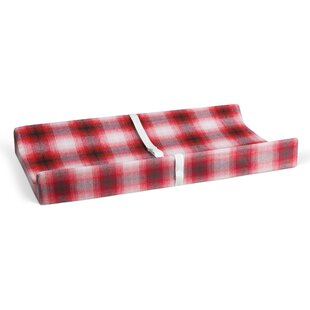 Best Review Deerfield Flannel Plaid Changing Pad Cover By Harriet Bee