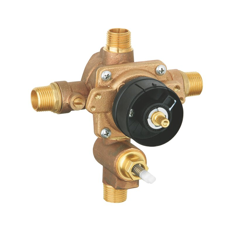 Grohe Grohsafe Universal Pressure Balance Rough In Valve With Diverter Reviews Wayfair