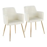 Cynthia Velvet Upholstered Arm Chair (Set of 2) by Mercer41