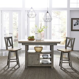 Lovitt Kitchen Island Set Gracie Oaks