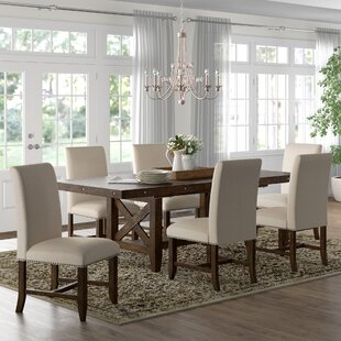Melstone 7 Piece Extendable Dining Set Three Posts