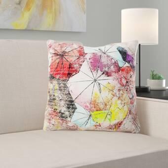 Ivy Bronx Grondin Art And Craft Flower Art Paper Throw Pillow Wayfair