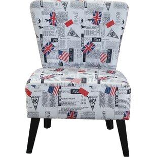 Ebern Designs Schoenherr Flag Pattern Side Chair