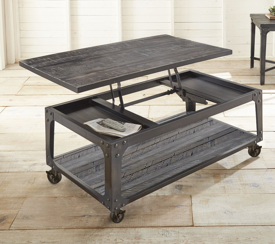 Small Coffee Tables That Lift Up: 17 Stories Aule Lift Top Coffee Table & Reviews