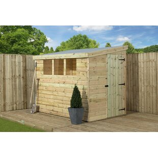 Bremer 7 Ft. W X 7 Ft. D Shiplap Pent Wooden Shed By Union Rustic