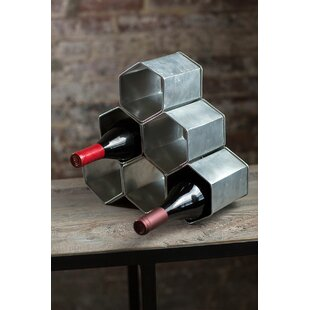 Tyronza Zinc 6 Bottle Tabletop Wine Rack