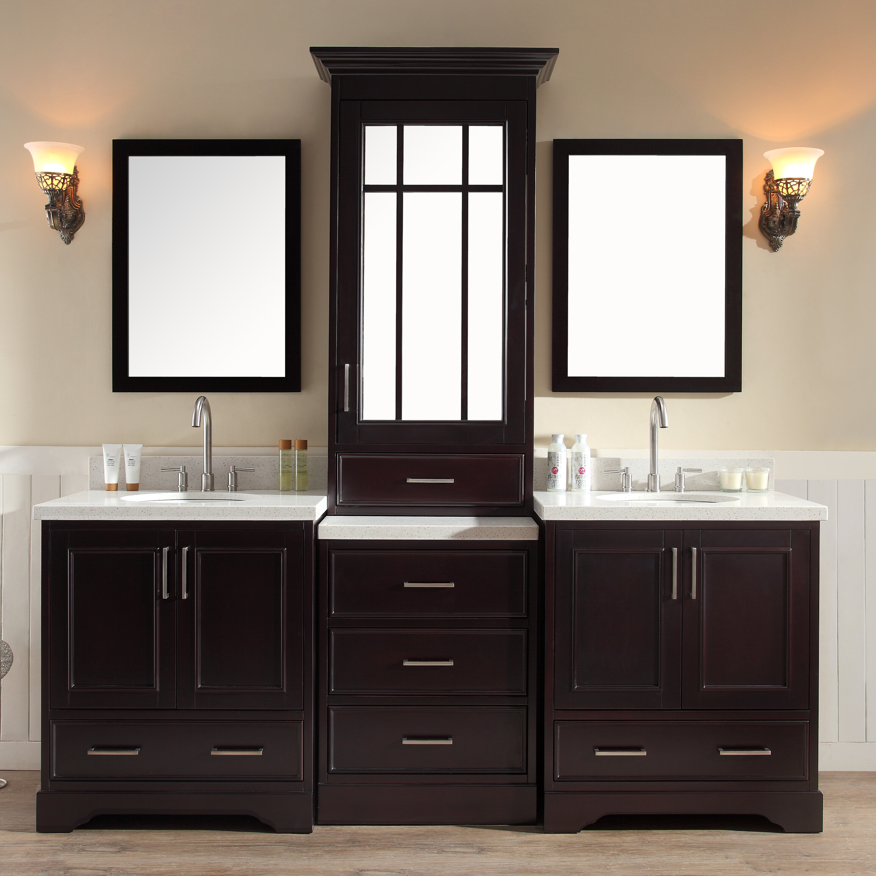 Darby Home Co Geraldina 85 Double Sink Vanity Set With Mirror Reviews Wayfair