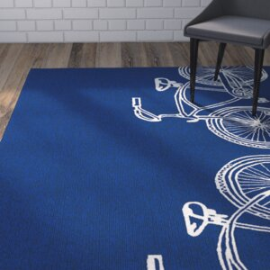 Handmade Navy / Ivory Indoor/Outdoor Area Rug