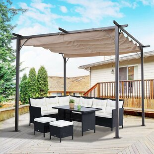 Sugarmill W 3m X D 3m Retractable Patio Cover Awning By Sol 72 Outdoor