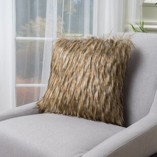 Gillian Faux Fur Throw Pillow