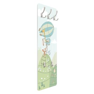 Woodland With Houses And Fox Wall Mounted Coat Rack By Symple Stuff