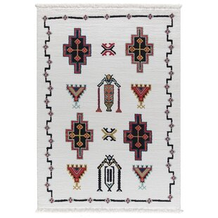 Searching for Rheba White Area Rug ByBungalow Rose