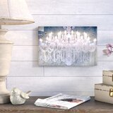 Fashion and Glam Day and Night Chandelier - Graphic Art Print on Canvas