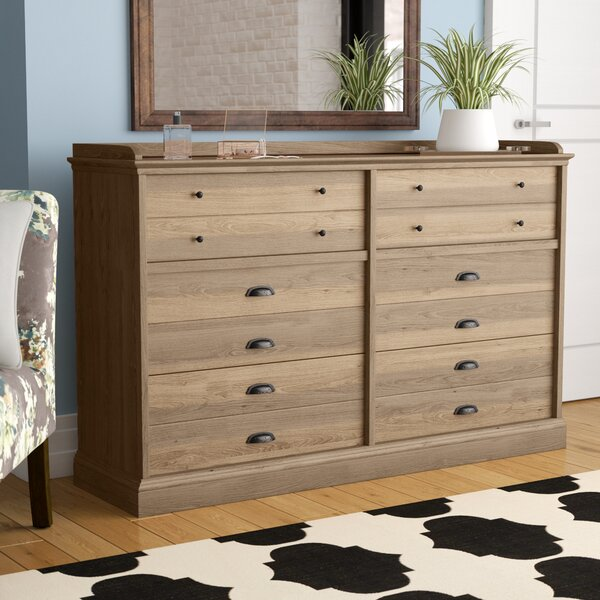Bowerbank Chester 6 Drawer Double Dresser by Beachcrest Home™