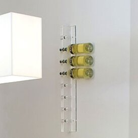 Acrylic 8 Bottle Wall Mounted Wine Rack by Gus* Modern