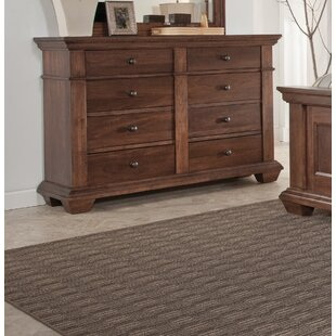 Read Reviews Maglio 8 Drawer Double Dresser by Charlton Home