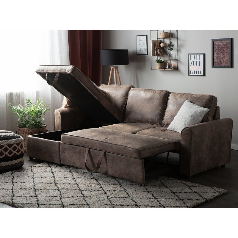 Winston Porter Brinker Sleeper Sectional Wayfair