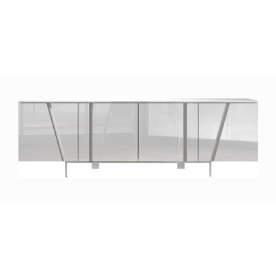 Comm Office Miliano Sideboard Color: Glossy White