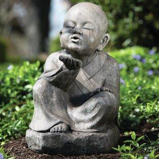 Genial Wishing Buddha Garden Statue