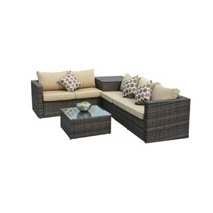 Faust 4 Piece Rattan Sectional Seating Group
