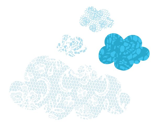 Pop Lolli Lacey Clouds Wall Decal Wayfair