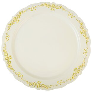 Heritage Embossed Dinner Plate (Set of 12) by Fineline Settings, Inc