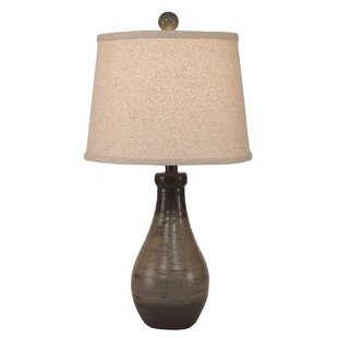 Alexandrite Earthstone Tapered Clay Pot 15 Lamp