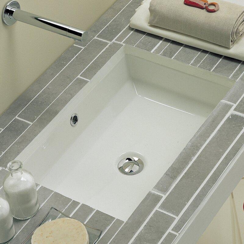 Scarabeo by Nameeks Tech Ceramic Rectangular Undermount Bathroom ...